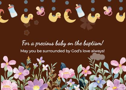 baptism card 242 envelope mail