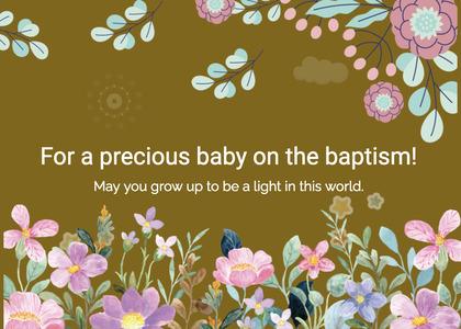 baptism card 243 graphics art