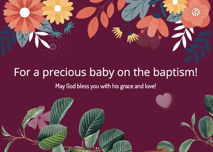 baptism card 245 graphics art