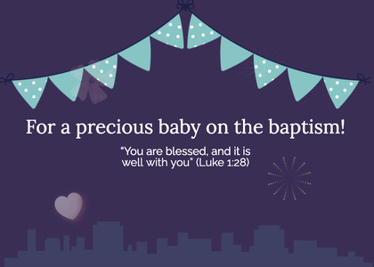 baptism card 246 poster advertisement