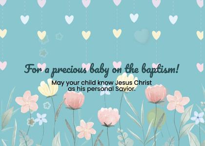 baptism card 25 envelope mail