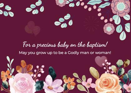baptism card 250 envelope mail