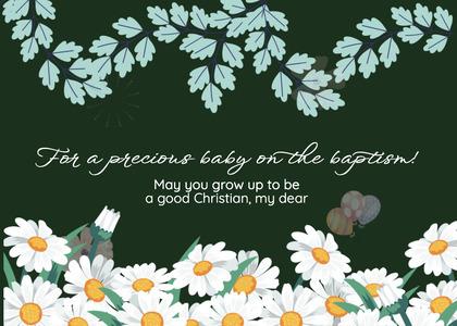 baptism card 251 daisy daisies