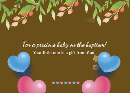baptism card 253 envelope mail