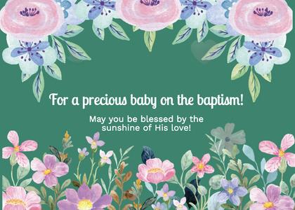 baptism card 255 graphics floraldesign