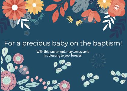 baptism card 256 graphics art