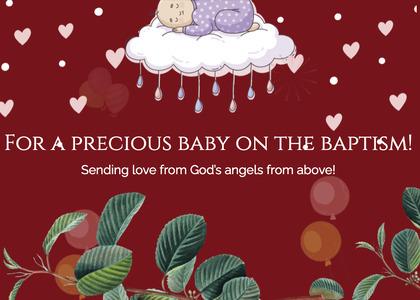 baptism card 257 cream creme