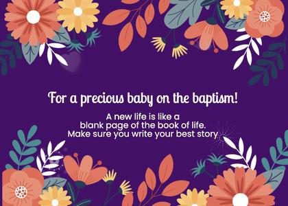 baptism card 260 graphics art