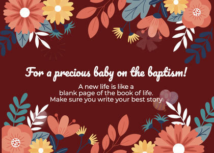 baptism card 261 graphics art