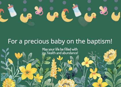 baptism card 262 graphics art