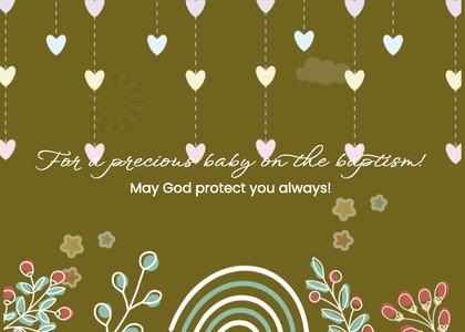 baptism card 263 floraldesign graphics