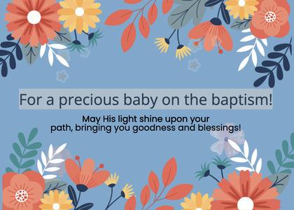 baptism card 29 graphics art