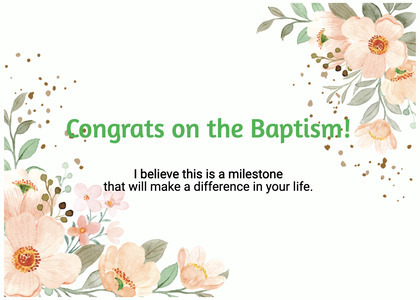 baptism card 295 graphics art