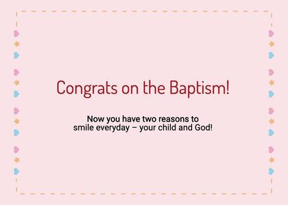 baptism card 299 text business card