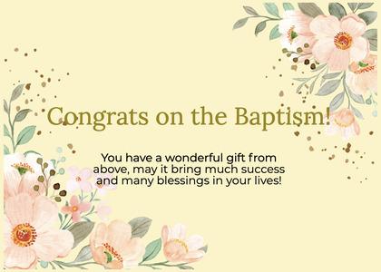 baptism card 301 graphics art