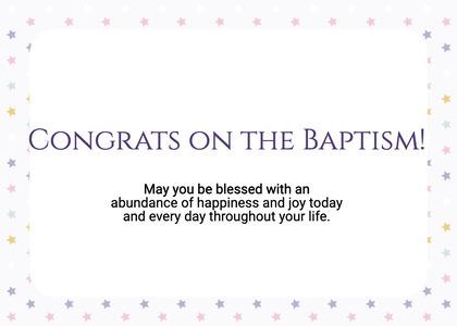 baptism card 303 paper text
