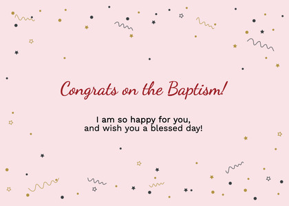 baptism card 305 paper confetti