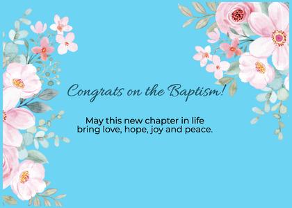baptism card 306 envelope mail
