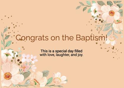 baptism card 309 graphics art