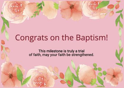 baptism card 311 cream creme