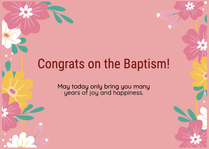 baptism card 312 graphics art