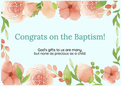 baptism card 313 cream creme