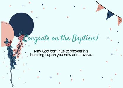 baptism card 315 paper text