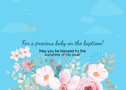 baptism card 32 envelope mail