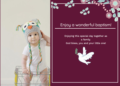 baptism card 321 person clothing