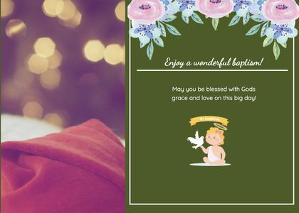 baptism card 322 advertisement flyer