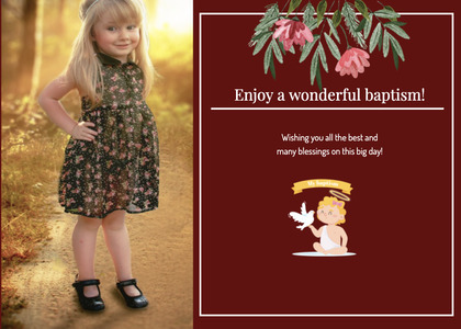 baptism card 323 person clothing