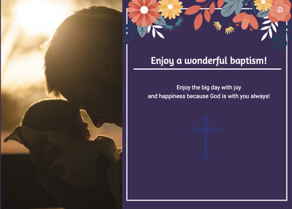 baptism card 325 flare light