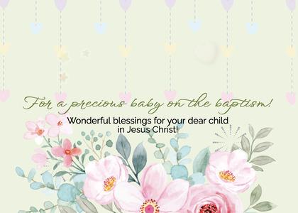 baptism card 33 envelope mail