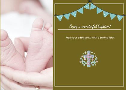 baptism card 332 person human