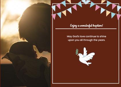 baptism card 335 poster advertisement