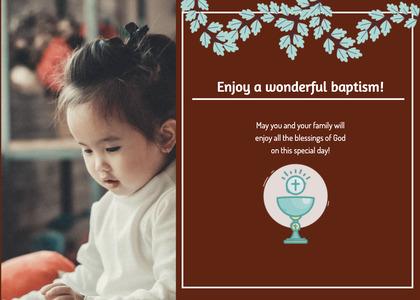 baptism card 338 person human