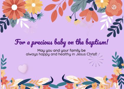baptism card 34 envelope mail