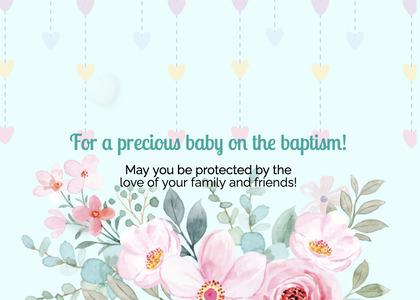 baptism card 35 envelope mail