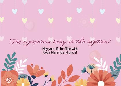 baptism card 36 envelope mail