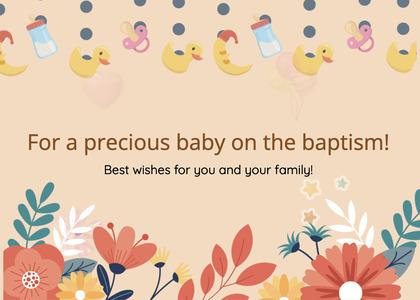baptism card 37 graphics art