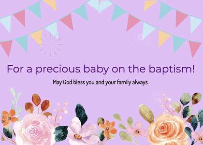 baptism card 38 flower blossom