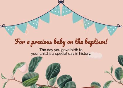 baptism card 40 plant text