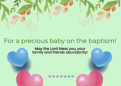 baptism card 41 graphics art