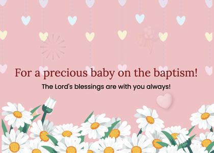 baptism card 42 daisy daisies
