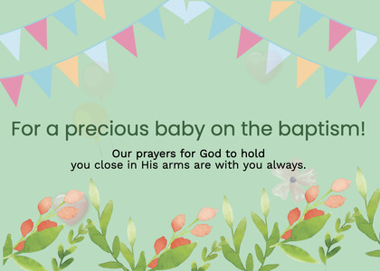baptism card 43 poster advertisement