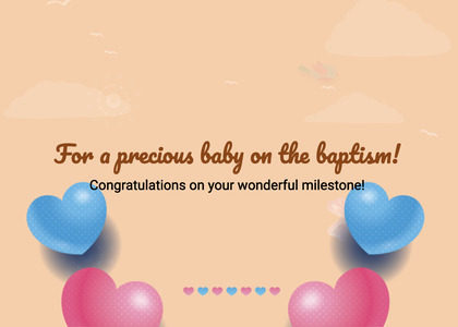 baptism card 45 page text