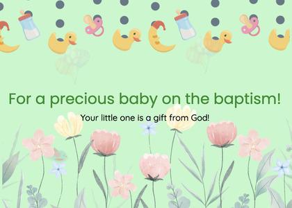 baptism card 46 text greeting card