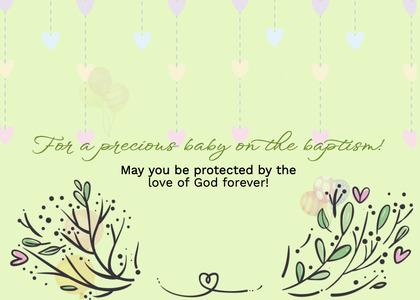baptism card 47 envelope mail