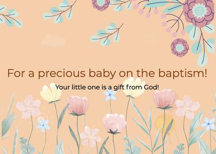 baptism card 48 floraldesign graphics