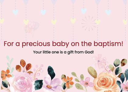 baptism card 51 envelope mail